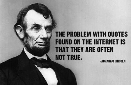 Lincoln Warned Us About The Internet
